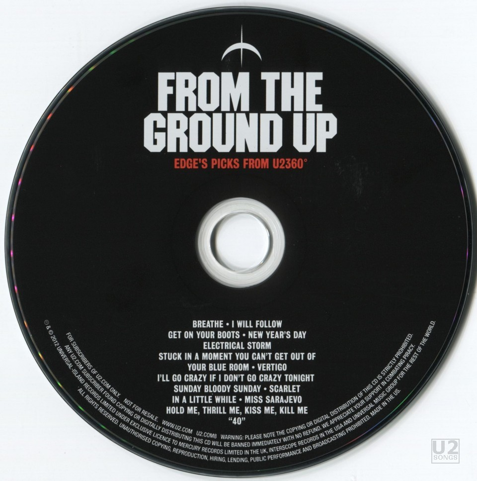 "From The Ground Up u2songs | u2 - ""from the ground up: musical edition (edge's"
