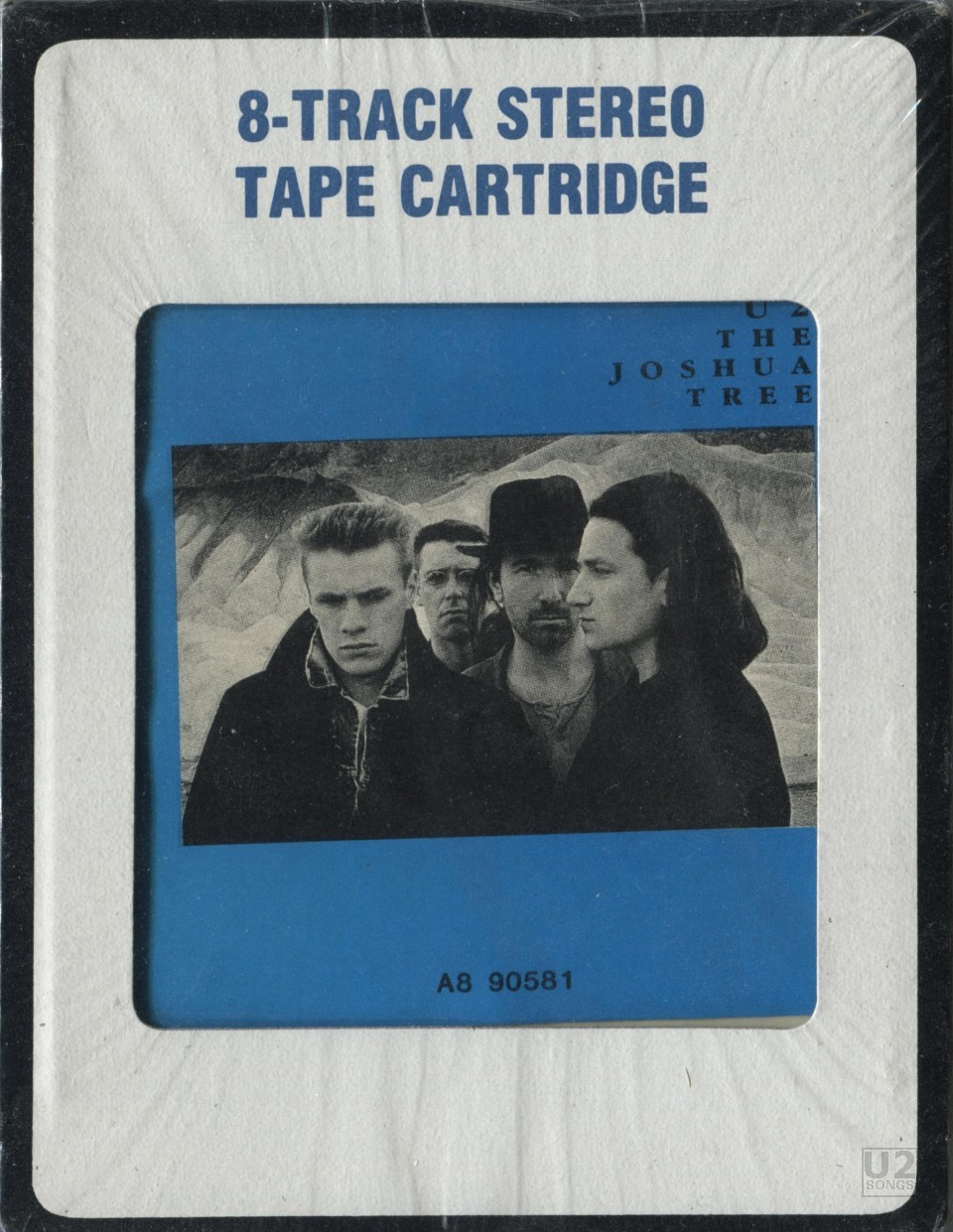 IMAGE The Joshua Tree On 8 Track Front Cover Collection Of U2SongsCom
