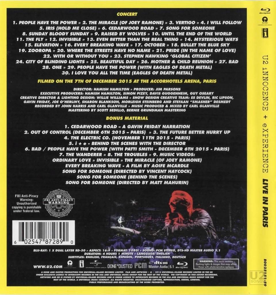 u2songs   U2 Innocence + Experience Look Inside  