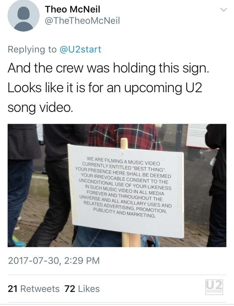 U2songs U2 Film For The Best Thing