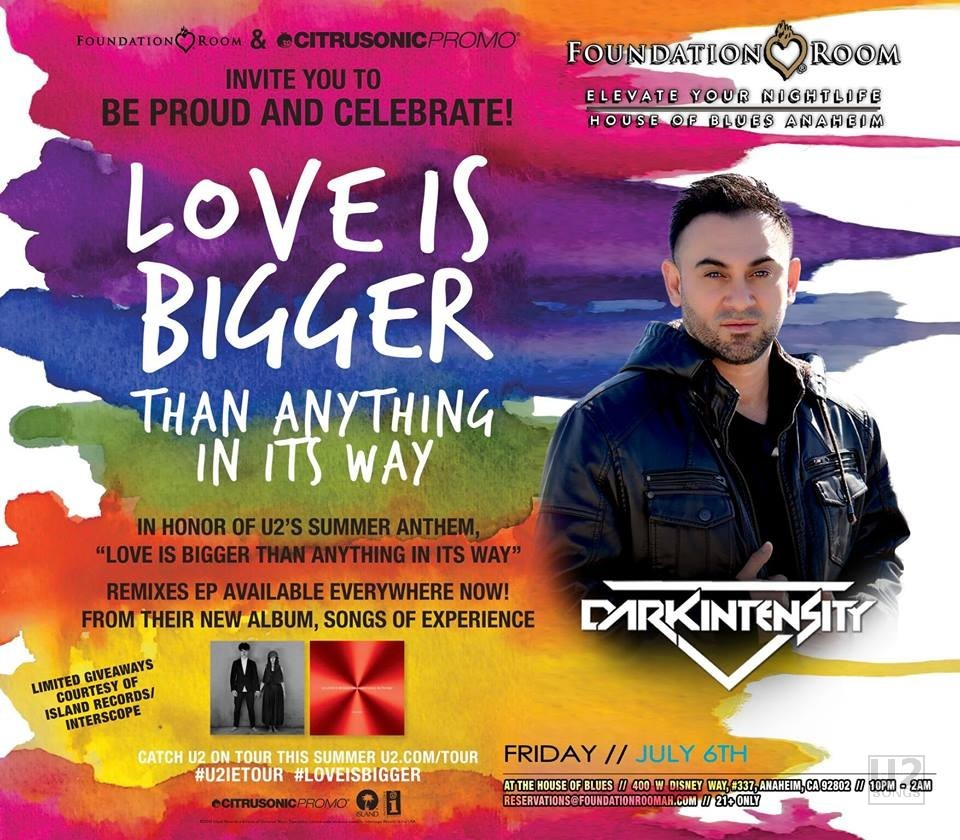 U2songs News Your Trailer May Not Have Been Originally Wired The Way Depicted And Image Poster For Love Is Bigger Event Featuring Dark Intensity Click To Enlarge Photo Courtesy Of Citrusonic