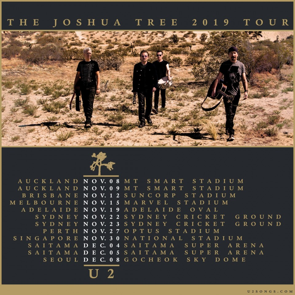 u2songs | The Joshua Tree Tour 2019 Questions and Answers |