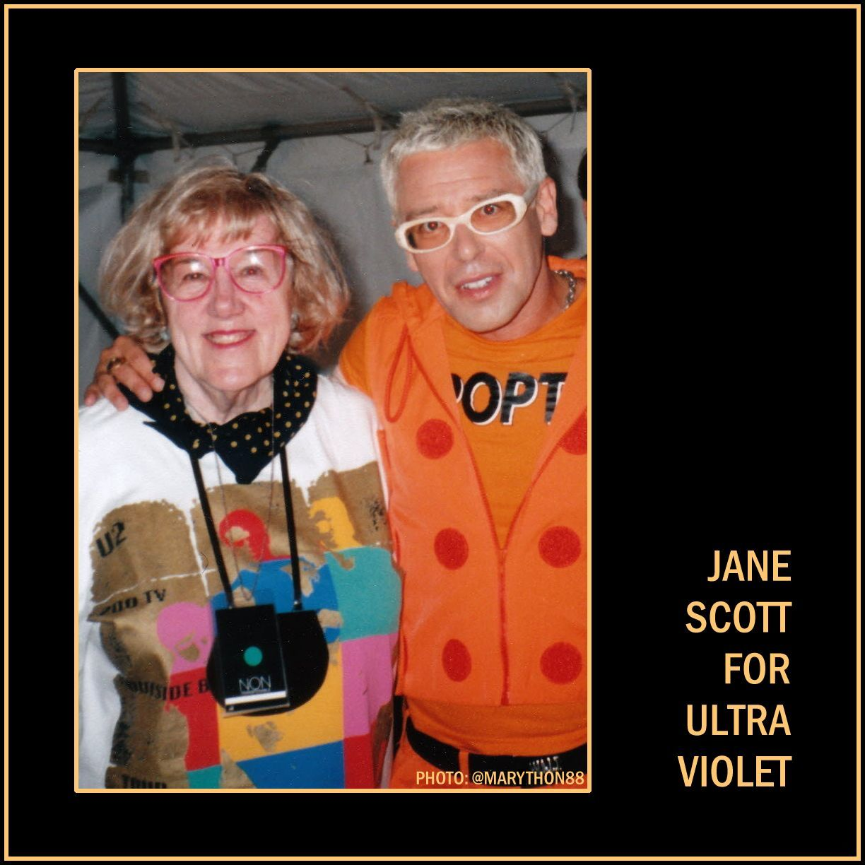 Jane Scott with Adam Clayton